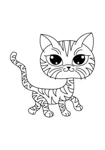 Схема для распечатки в виде кота
