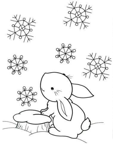 Схема для распечатки в виде кролика