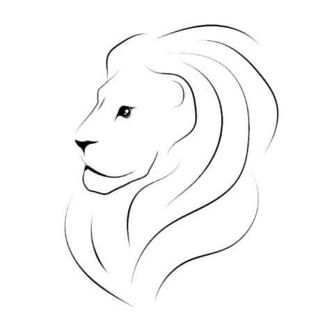 Схема для распечатки в виде льва