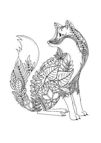 Схема для распечатки в виде лисички