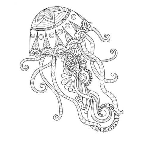 Схема для распечатки в виде медузы