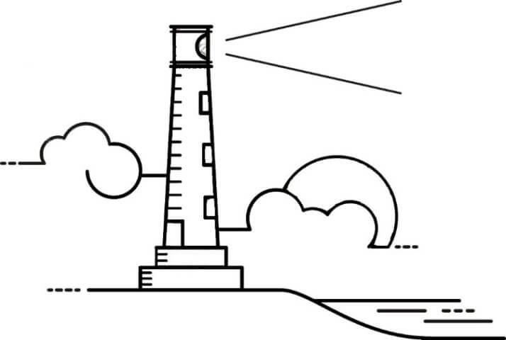 Схема для распечатки в виде маяка