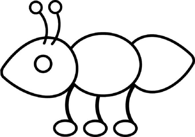 Схема для распечатки в виде муравья