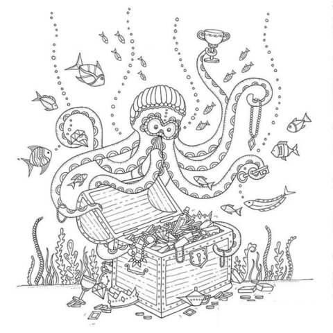 Схема для распечатки в виде осьминога