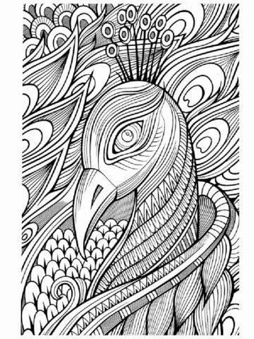 Схема для распечатки в виде павлина