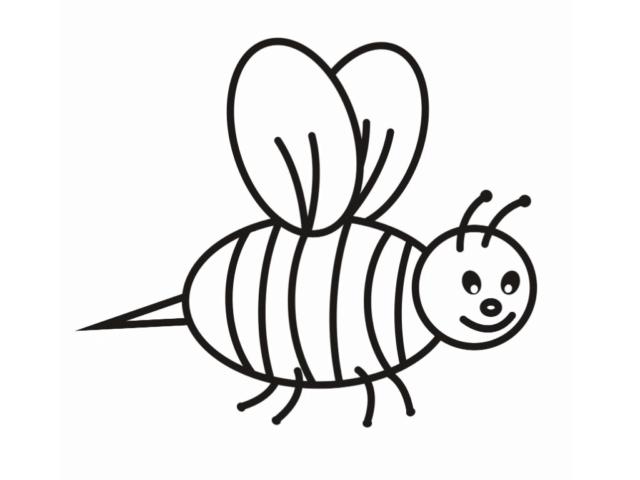 Схема для распечатки в виде пчелки