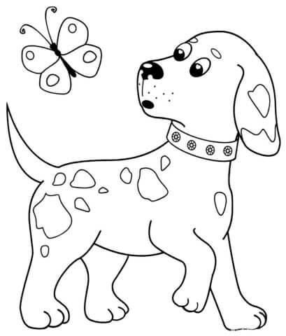 Схема для распечатки в виде собачки
