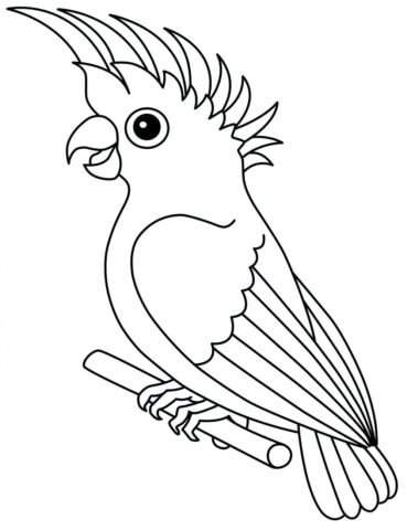 Схема для распечатки в виде попугайчика
