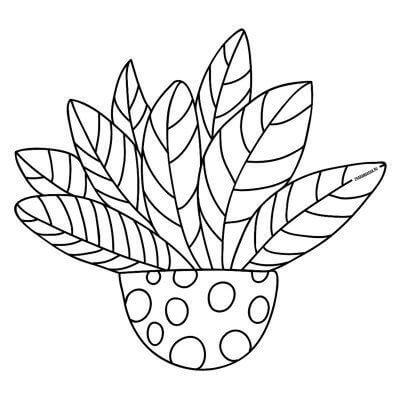 Схема для распечатки в виде растения
