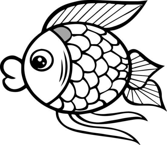 Схема для распечатки в виде рыбки