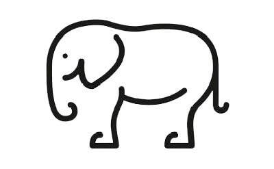 Схема для распечатки в виде слона