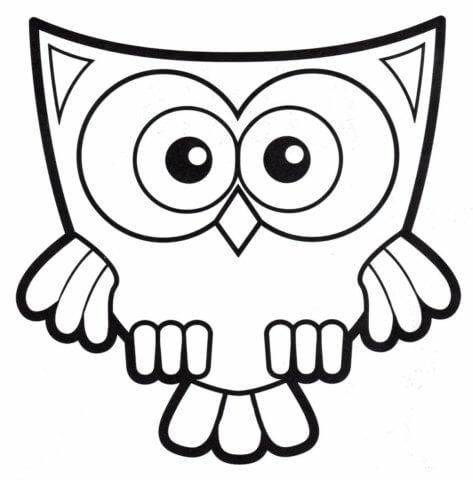 Схема для распечатки в виде совы