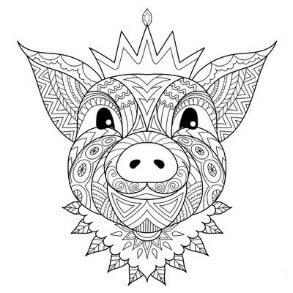 Схема для распечатки в виде свинки