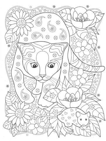 Схема для распечатки в виде тигра
