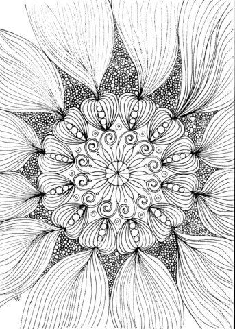 Схема для распечатки в виде цветочка