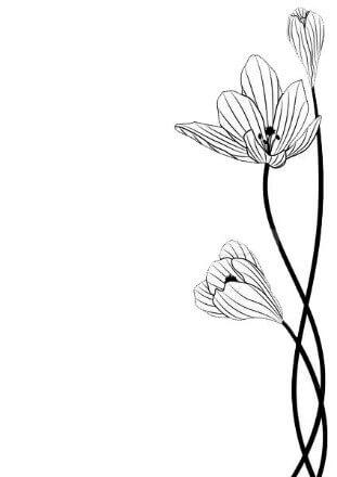 Схема для распечатки в виде цветочков