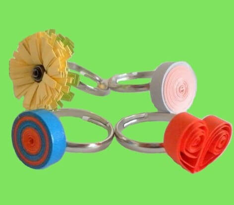 Оригинальные кольца в технике квиллинг