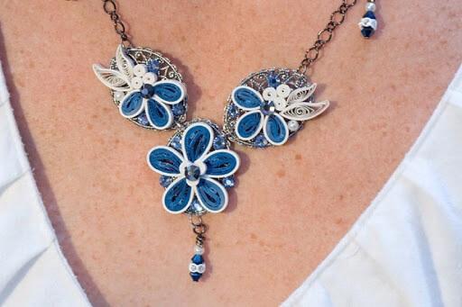 Квиллинг ожерелье