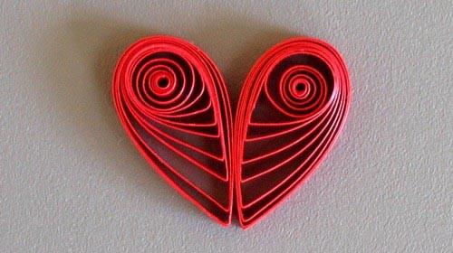Сердце в технике квиллинг