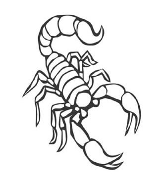 Схема скорпиона для квиллинга