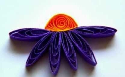 Цветочек в технике квиллинг