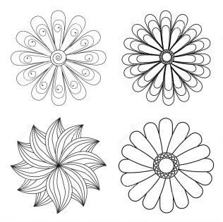Схема цветов для квиллинга