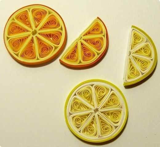 Апельсин в технике квиллинг
