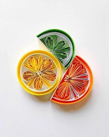 Апельсинчики в технике квиллинг