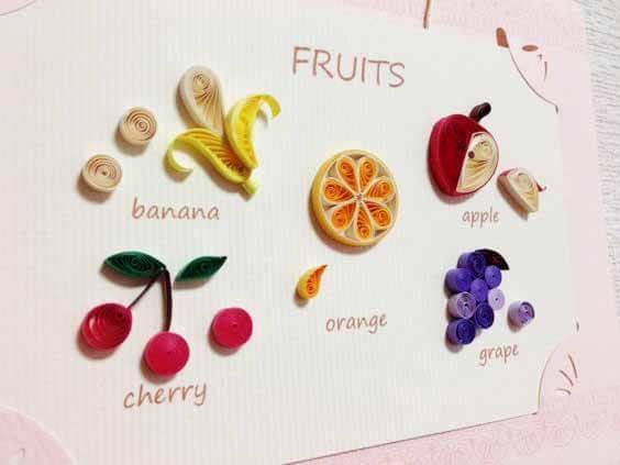 Магниты-фрукты в технике квиллинг