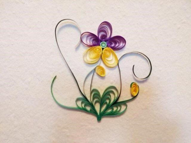Цветок в технике квиллинг