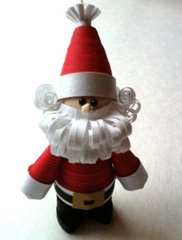 Дед Мороз в технике квиллинг