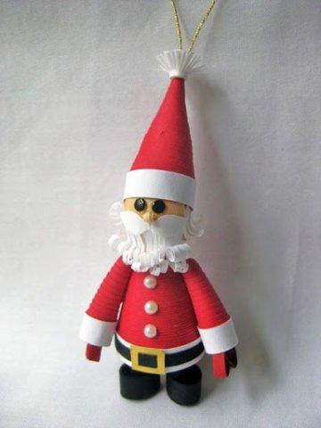Санта Клаус в технике квиллинг