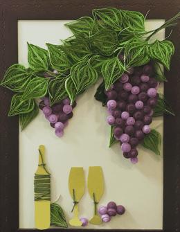 Виноград в технике квиллинг