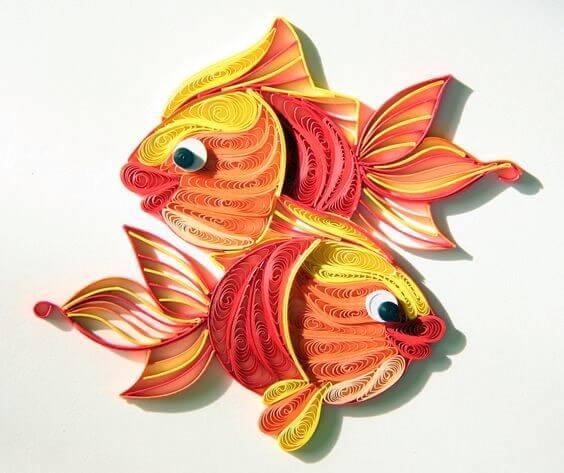 Готовые квиллинг рыбки